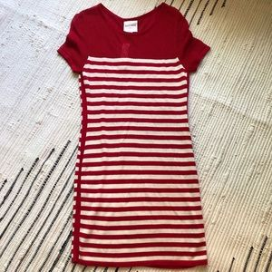 Red striped R&J Couture dress